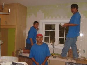Tile crew